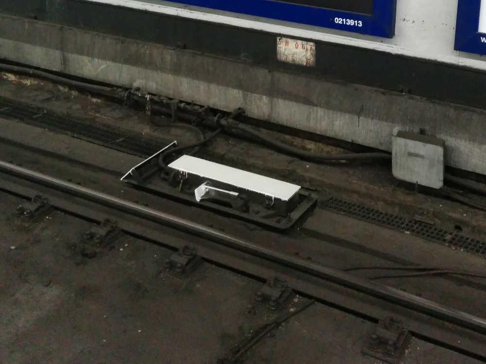Train stop lever