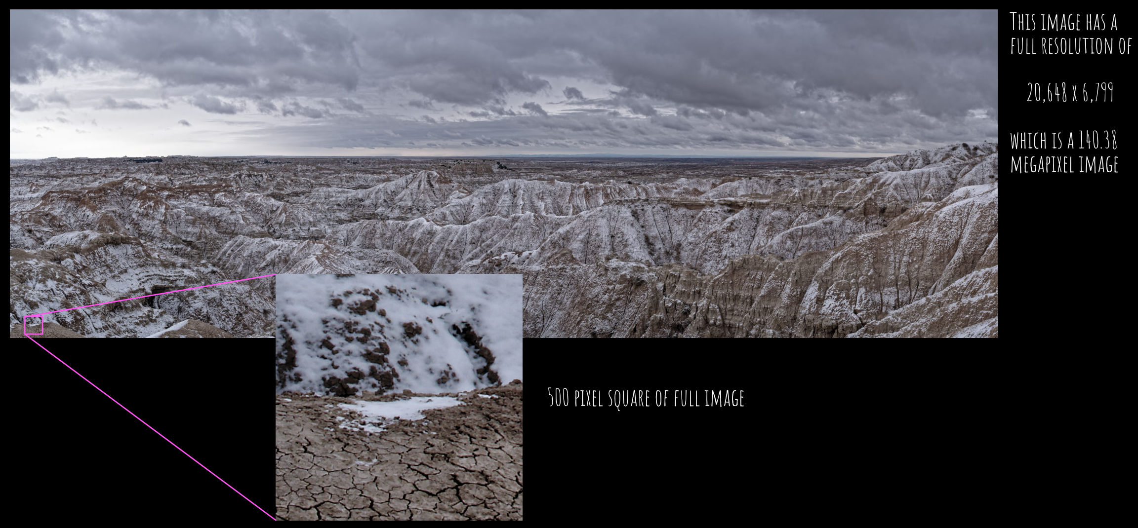Example Panoramic landscape photography