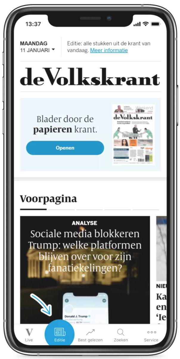 de Volkskrant app © de Volkskrant