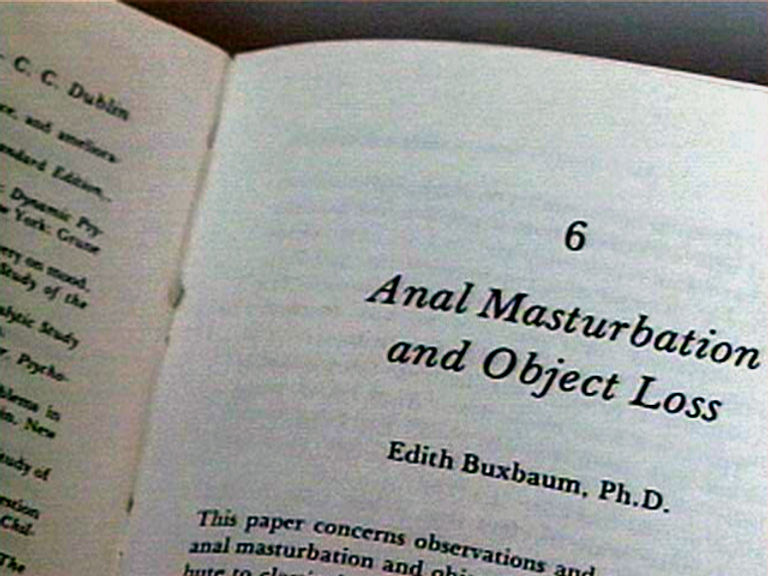 Anal Masturbation & Object Loss