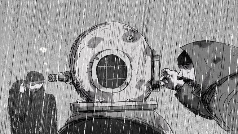 Divers in the Rain
