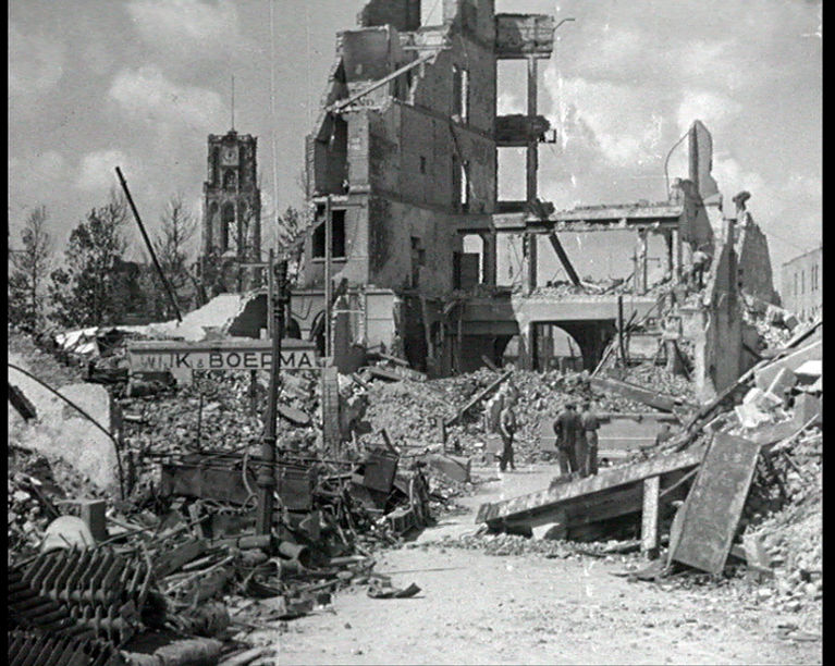 Verwoestingen in Rotterdam