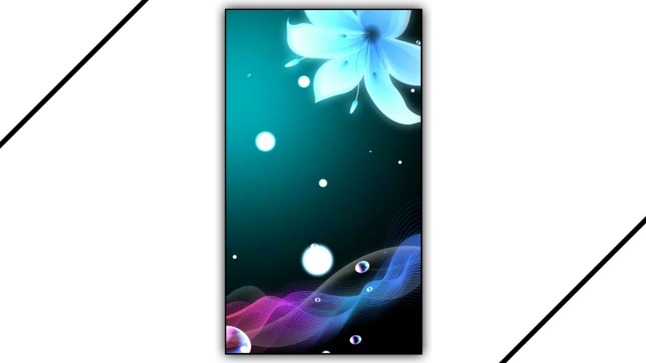 Flowers Abstract Light Drop Effect Kinemaster Template Download Free 2021