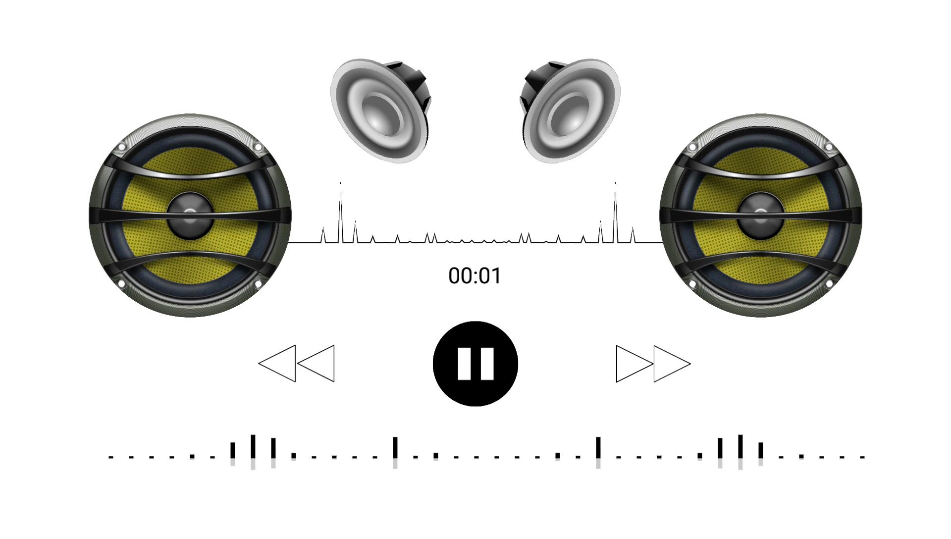 Bass Boosted Audio Spectrum Visualizer Background Effect Video Download Free