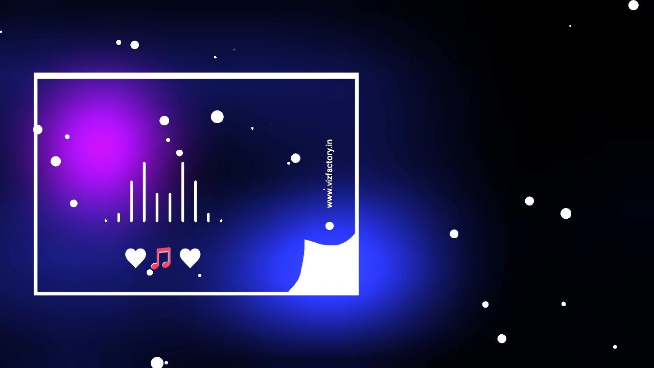 High Blur Effect Vector Page Visualizer Template Download for Avee Player