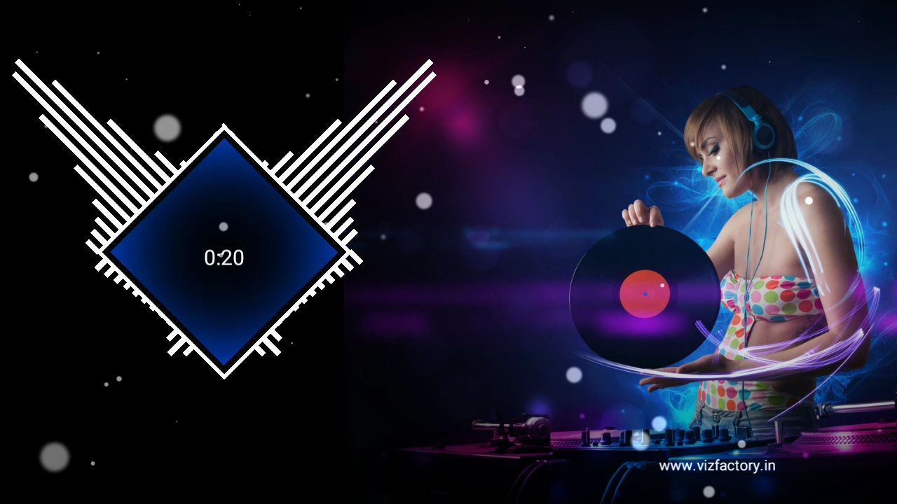 Square Bars Audio Visualizer Template Download for Avee Player