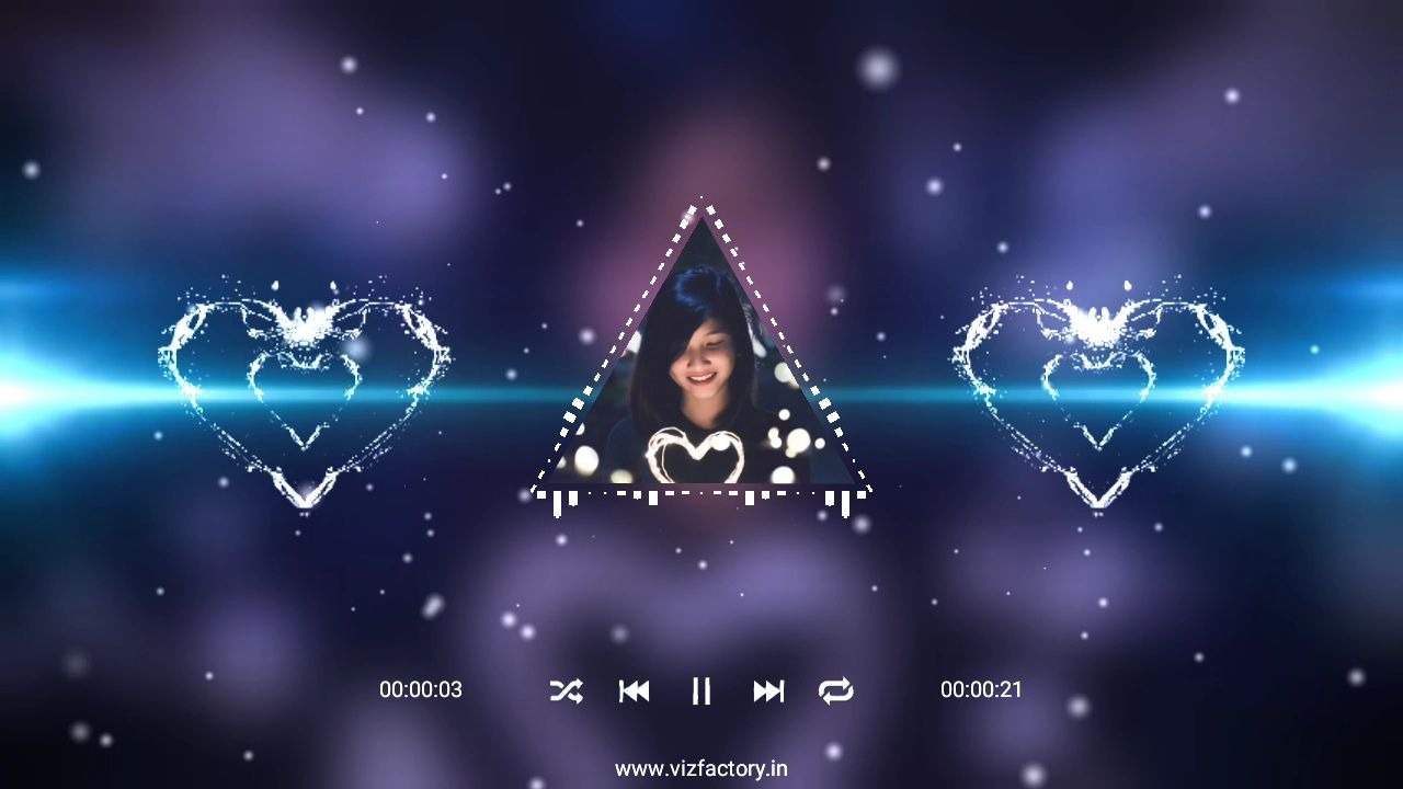 Love Lighting Triangle Effect Visualizer Template Download Free for Avee Player