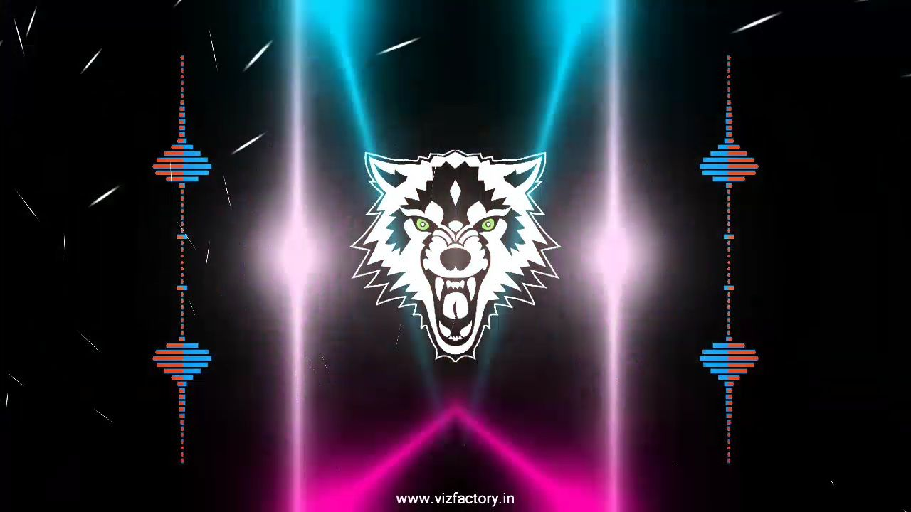 Angry Wolf Hard Bass Boosted Avee Player Template Download Free