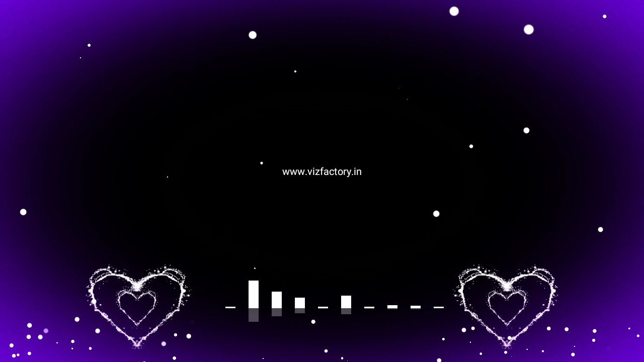 Heart Light Drop Visualizer Template Download Free