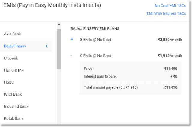 7fde5338577 Samsung J7 Nxt EMI at ₹558 month and Bajaj Finance