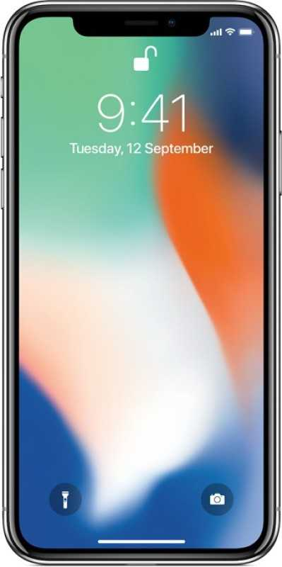 Apple iPhone X (Silver, 64 GB)