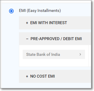 SBI Debit card EMI on Flipkart