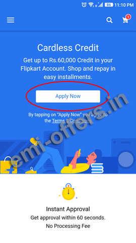 Cardless Credit Details for Flipkart 2019   How to Apply