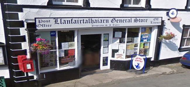 Llanfairtalhaiarn Post Office