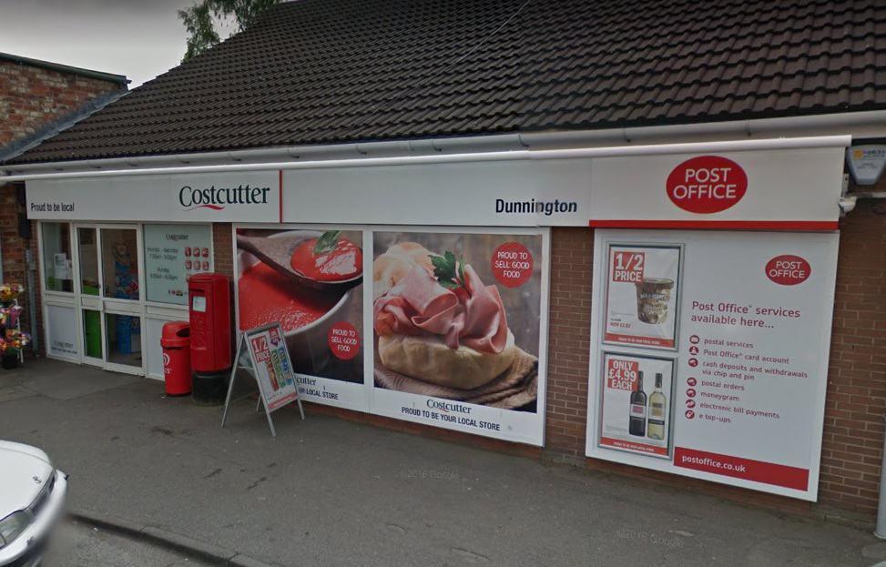 Dunnington Post Office