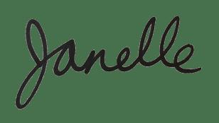 Janelle's handwritten signature