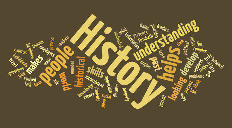 word collage history