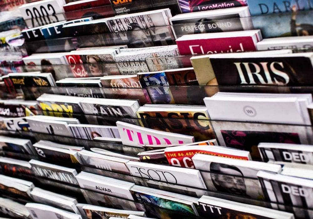 Blogging Tips and Tricks: a magazine rack chock full of magazines