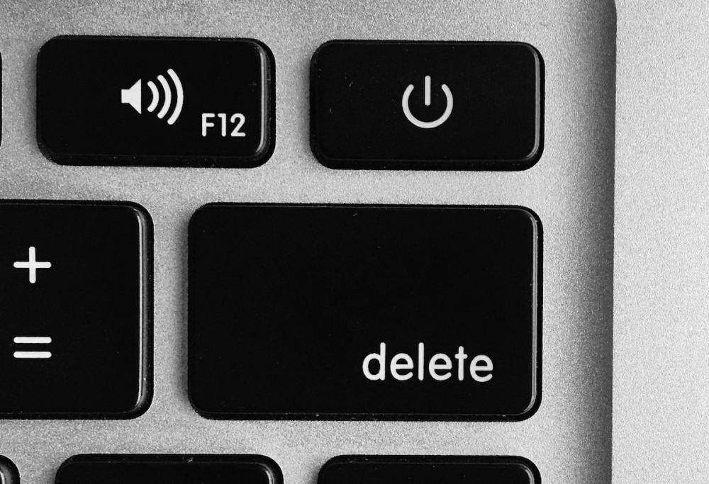 am I making the right decision? close up of the delete button on a computer keyboard