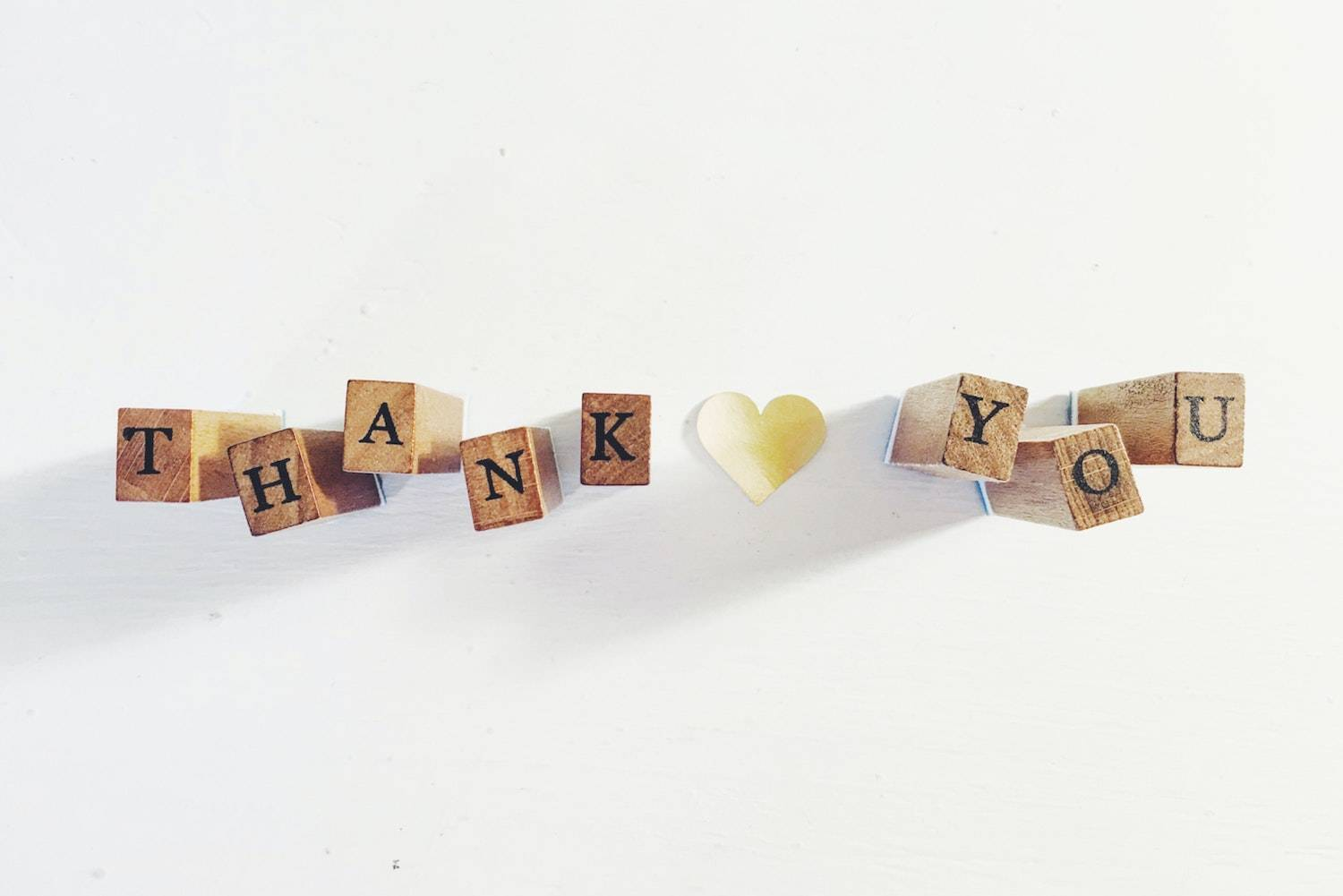 The Thank You List: scrabble letters spelling out the word thank you