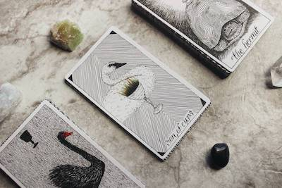When is it Time to Redesign Your Website? three tarot cards laid out in a row, with swans on them