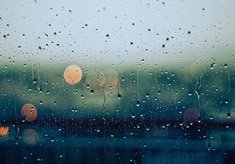 how to turn around a bad day: a rainy day outside of a window