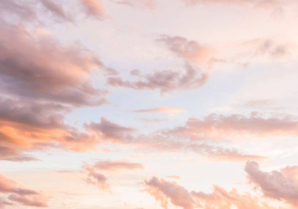 unplug yourself: beautiful pink clouds at sunset