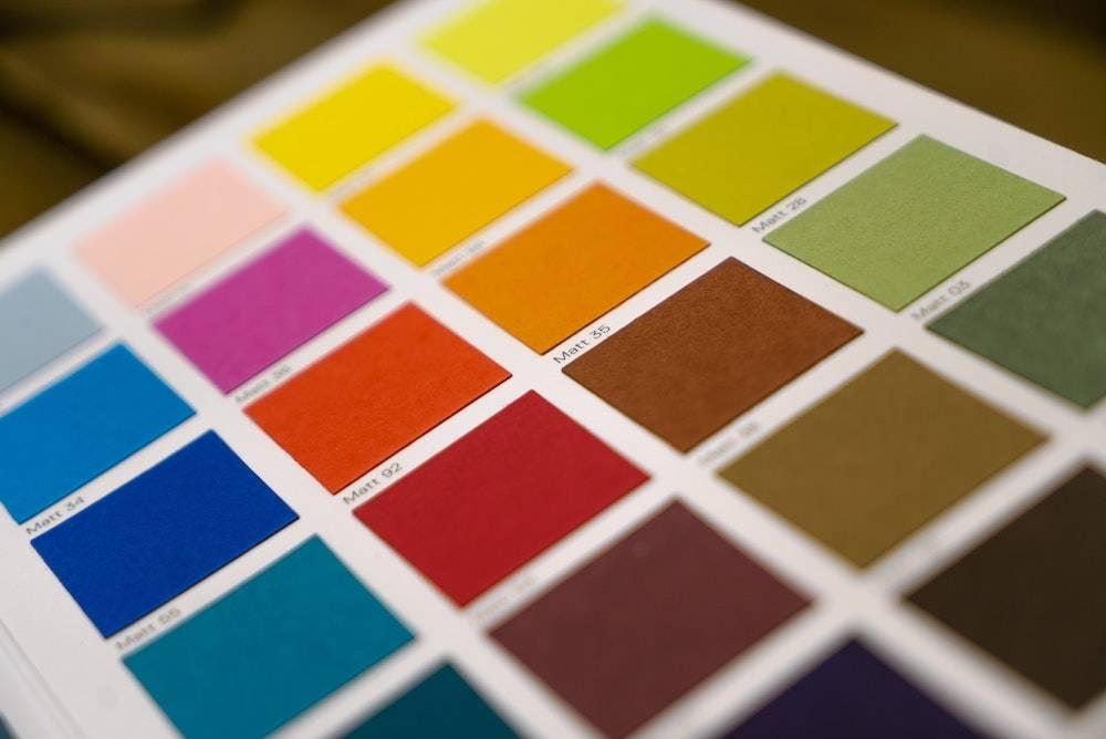 website color psychology - color palette sheet