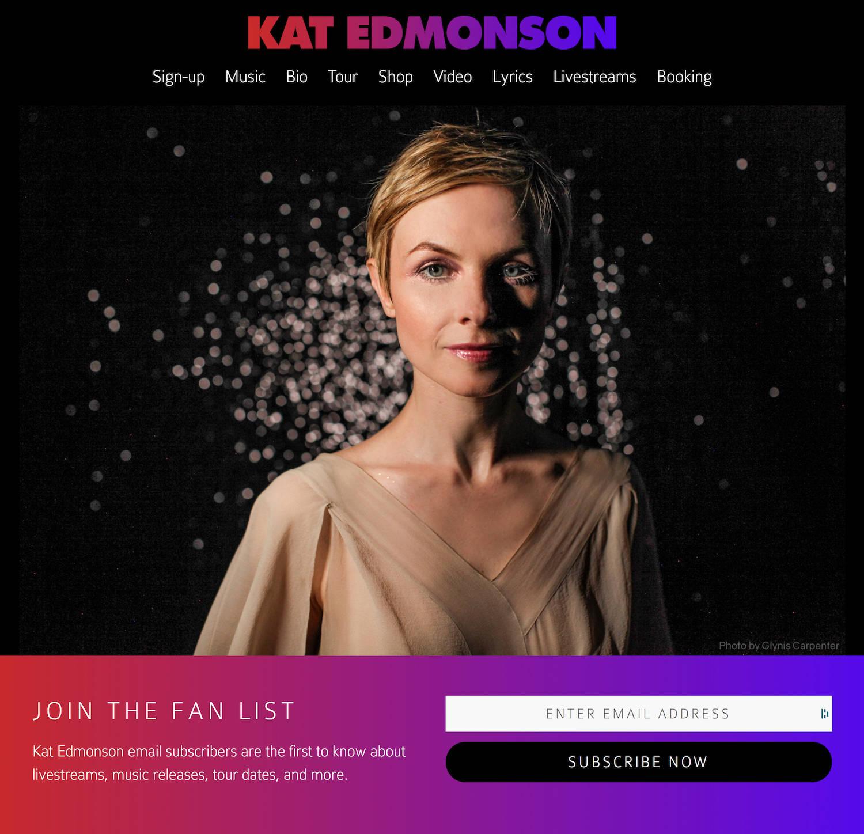 Kat Edmonson website homepage