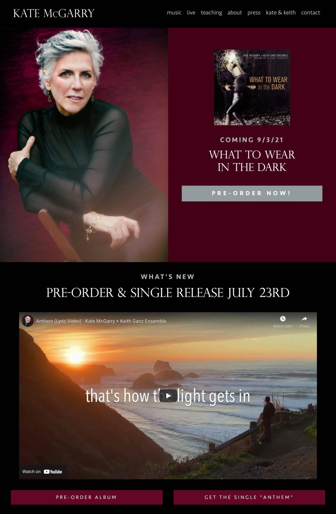 Kate McGarry website homepage