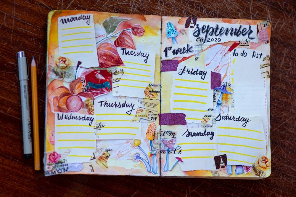 business weekly to do list - a creatively decorated planner