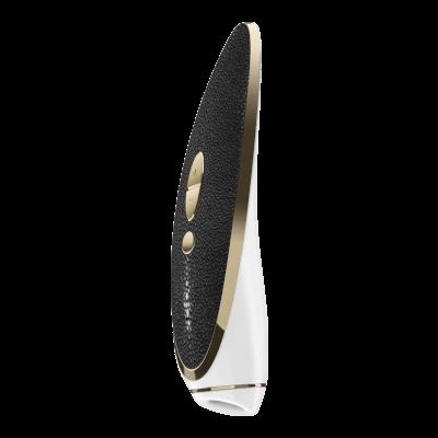 Satisfyer Luxury Pret-a-porter - vibráló csiklóizgató (fekete-fehér)