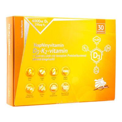 D3-K2-vitamin és szerves nyomelem komplex Prebiotikummal (30db) - Napfényvitamin