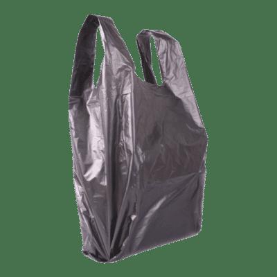 Műanyag táska kicsi 28x36 (fekete)