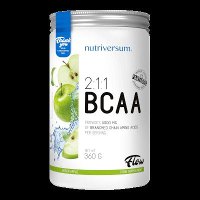 2:1:1 BCAA - 360 g - FLOW - Nutriversum - zöld alma