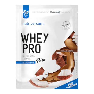 Whey PRO - 30 g - PURE - Nutriversum - csokoládé-kókusz