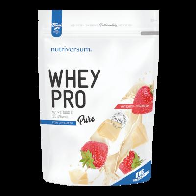 Whey PRO - 1 000 g - PURE - Nutriversum - fehércsokoládé-eper