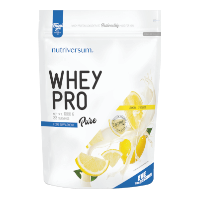 Whey PRO - 1 000 g - PURE - Nutriversum - citrom-joghurt