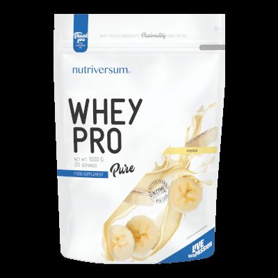 Whey PRO - 1 000 g - PURE - Nutriversum - banán