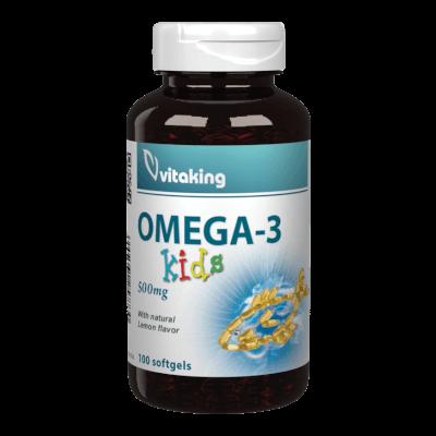 Omega-3 Kids 500mg - 100 gélkapszula - Vitaking