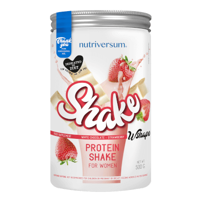 Shake - 500 g - WSHAPE - Nutriversum - fehércsokoládé-eper