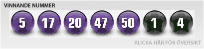 Euro Lotto Resultater for Tirsdag 13 August 2013