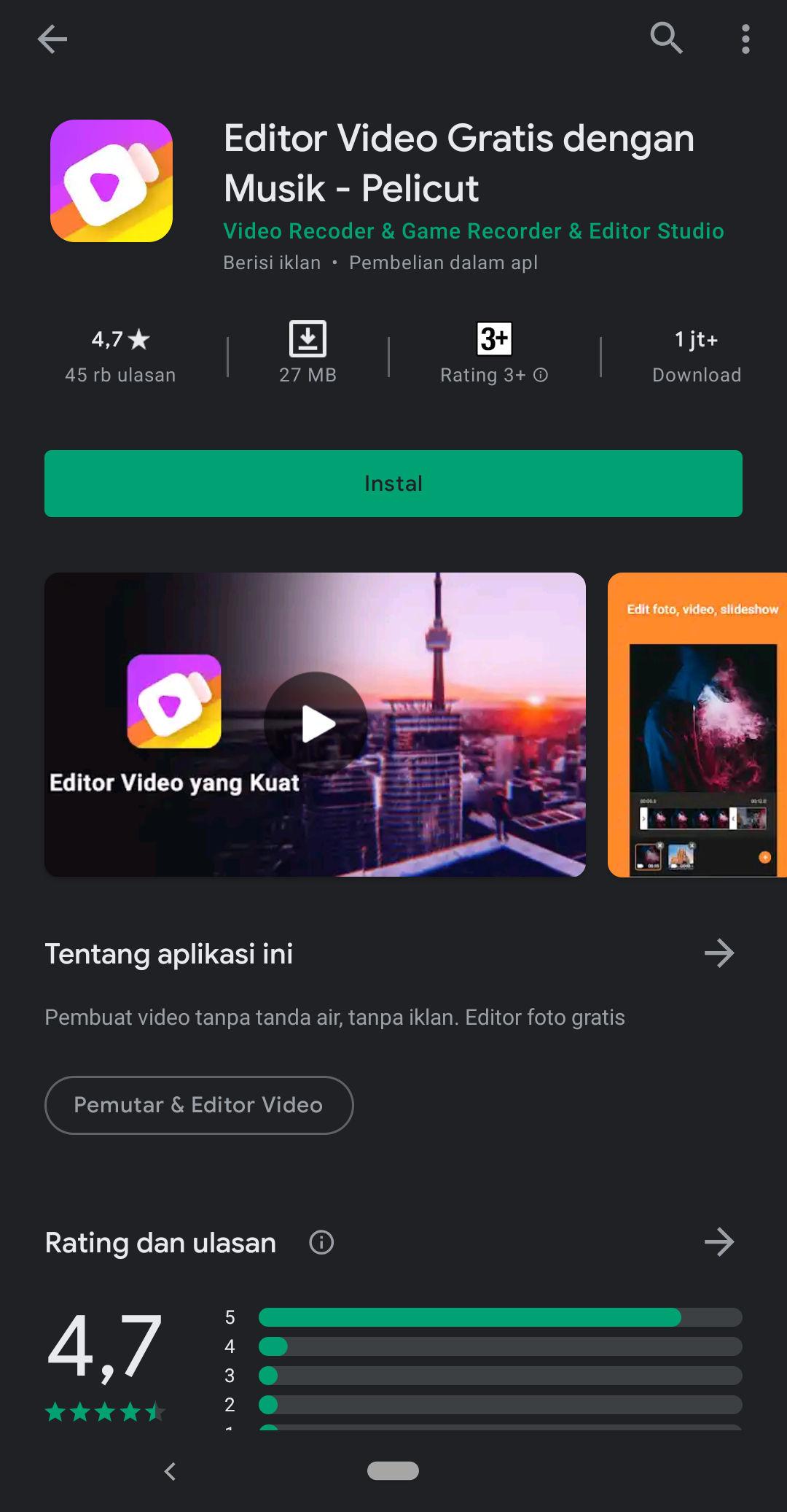 Aplikasi Editor Video Tanpa Watermark Terbaik