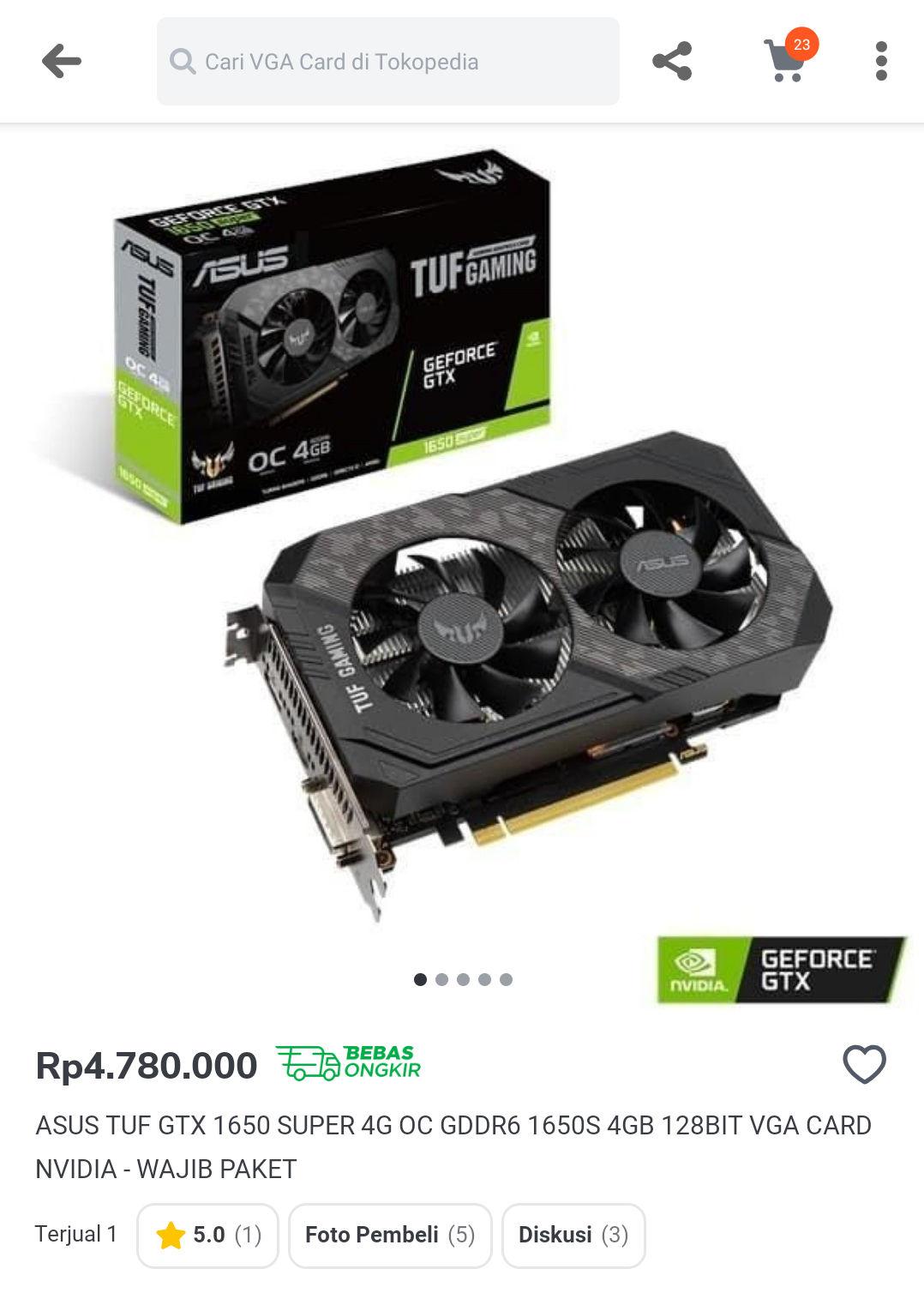 Nvidia GeForce GTX 1650Vga Card Terbaik Dengan Harga 6 jutaan