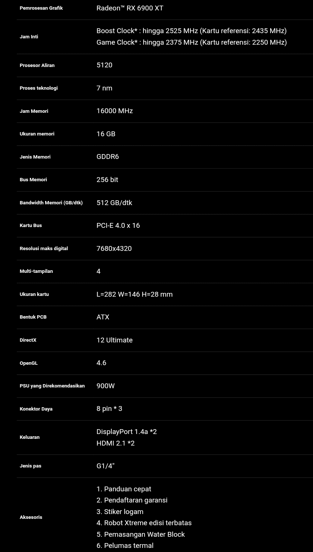 AORUS Radeon™ RX 6900 XT XTREME WATERFORCE WB 16G Akan Segara Hadir, Keunggulan Dan Spesifikasinya