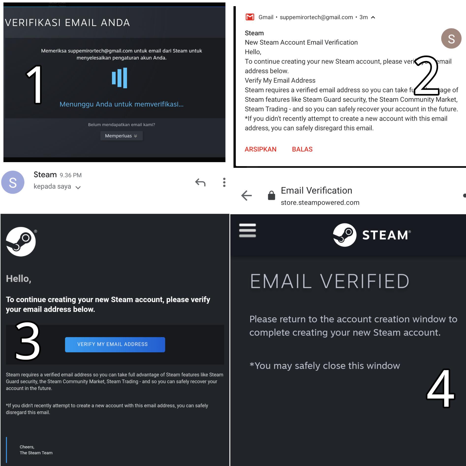 Verifikasikan Email Anda