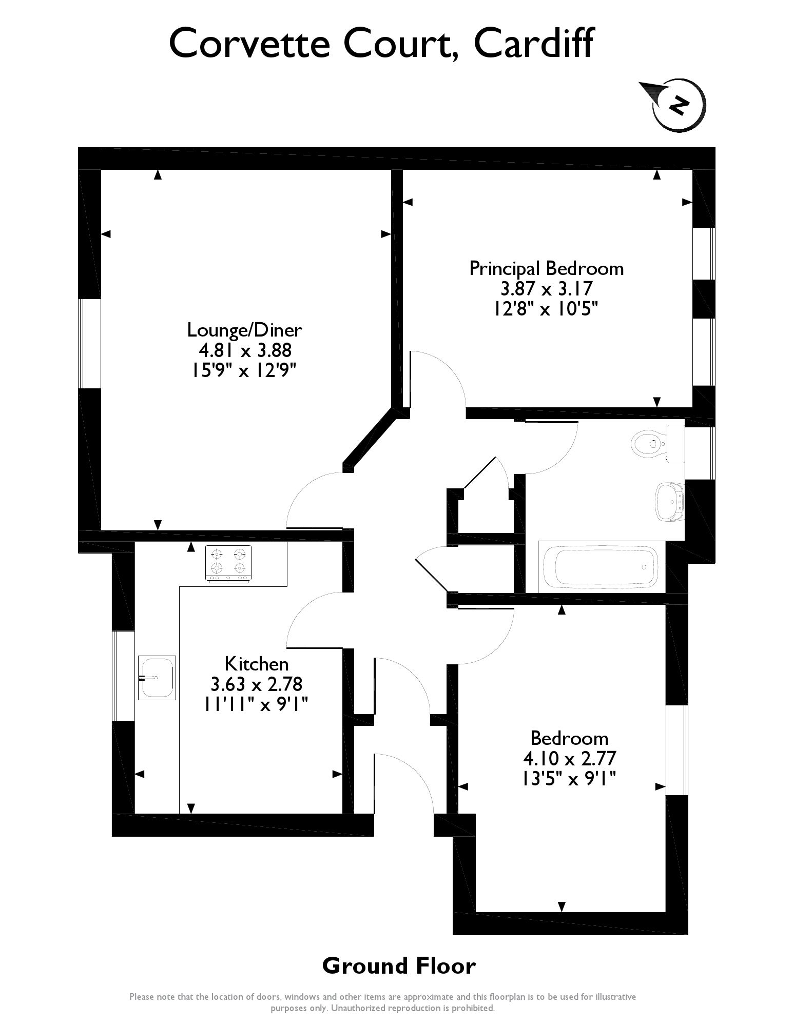2 Bed, Apartment