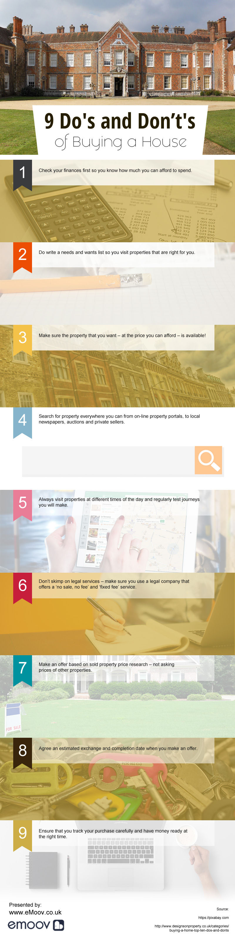 9 Do's and Don't's of Buying a House [infographic]