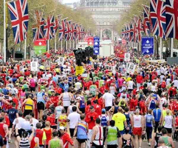 This map shows the prices of properties along the London Marathon route