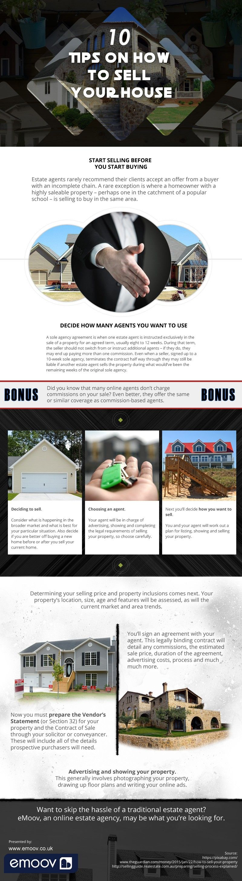 10 Tips on How to Sell Your House [infographic]